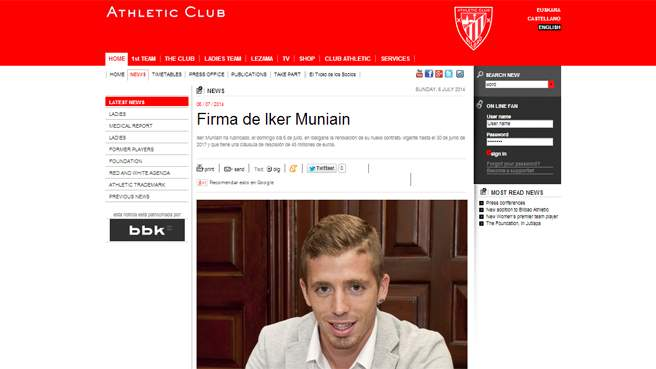 L'Athletic blinda Muniain